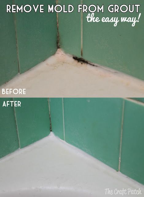 How to remove mold from grout. No scrubbing involved! Get your shower grout and caulk sparkling clean the easy way!