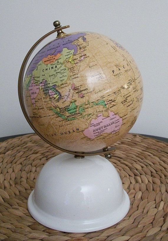 vintage world globe bank-- great way to save some cash for future travels!!