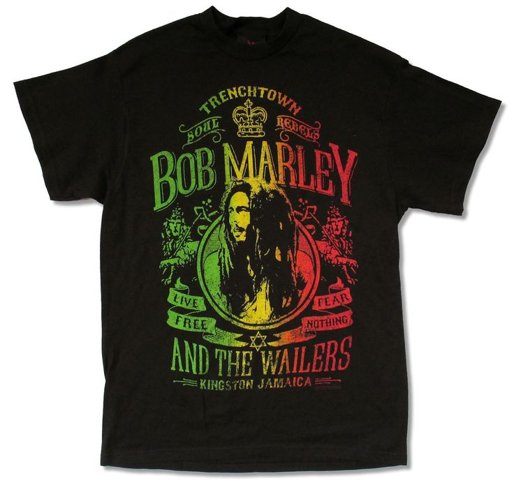 ">> Click to Buy << BOB MARLEY ""LIVE FREE"" BLACK T-SHIRT NEW OFFICIAL ADULT REGGAE WAILERS JAMAICA mens t shirt sale #Affiliate"