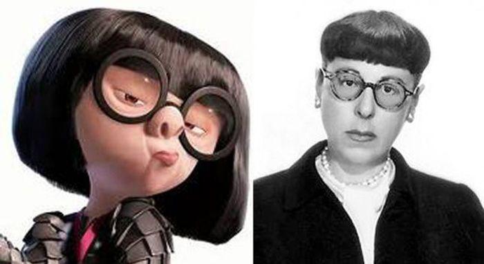 The Real Edna Mode Edith Head Edith Head Edna Mode The Incredibles