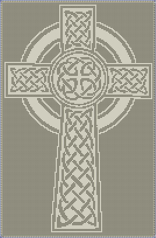 Celtic Cross Filet Crochet Pattern by CraftySasha on Etsy, $3.00  #churchbasement