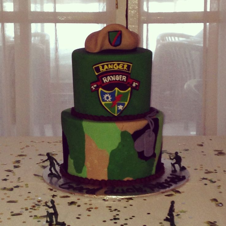 Army ranger cake gift care package ideas pinterest for Welcome home soldier decorations