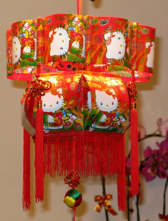Red packet hello kitty chinese lantern red packet for Ang pow decoration craft work