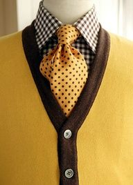 Yellow, Polka dots, checkered. Masculine style. Embrace luscious living with LUSCIOUS: www.myLusciousLife.com