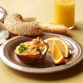 These easy-yet-elegant egg cups are a great centerpiece for a brunch buffet table. Serve them with fresh fruit and a variety of bagels, muffins, and breads for a memorable celebration. This recipe comes from MyPanera member Susie Morgan of Vancouver, Washington.-Visit PaneraBread.com for more inspiration.