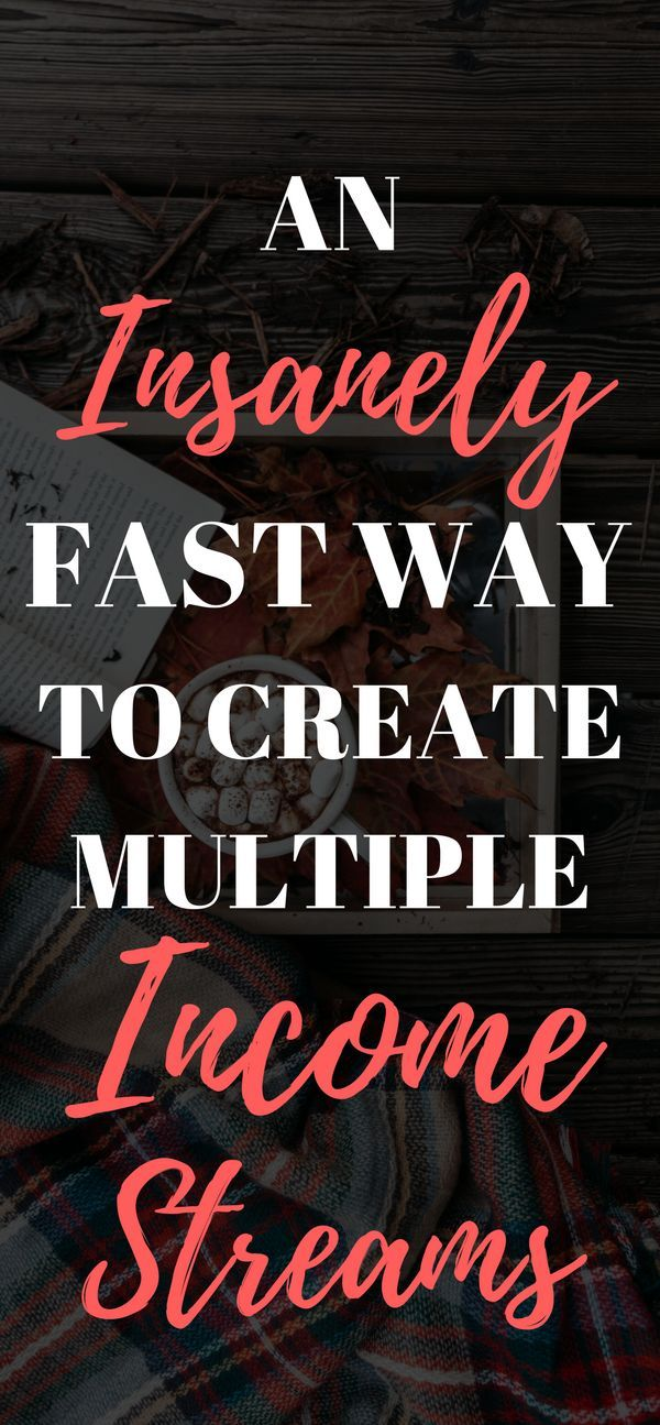 An insanely fast way to create multiple income streams #multipleincomestreams #makemoneyonline