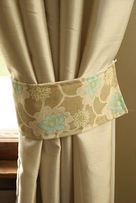 How to Make Curtain Tie Backs. Fabric should be 5 by 22 to start with.