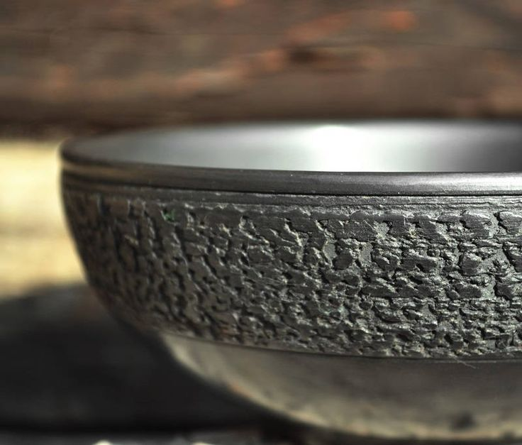Big ceramic bowl   Handmade bowl   Pottery bowl   Textured bowl   Black bowl   Unique bowl   Ceramic and pottery   Stoneware bowl   Crockery by ArtPotteryBaiTerek on Etsy