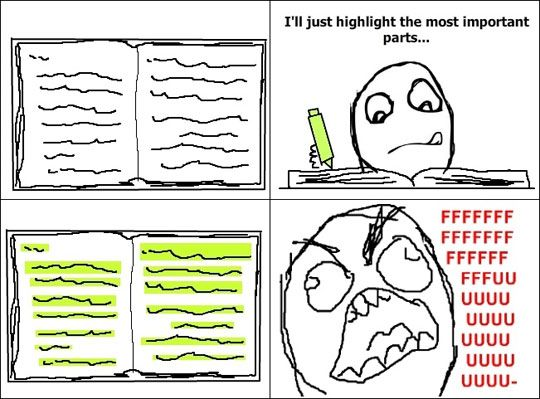 Highlighting the most important parts