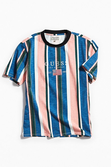 0705b14d4 GUESS David Sayer Stripe Tee #menswear #style | Coachella Dreaming ...