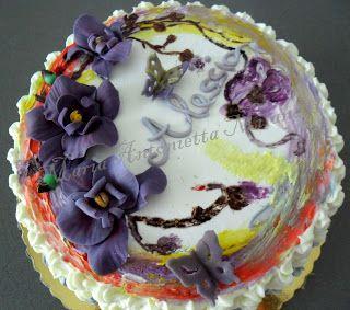 le mie creazioni zuccherose: Orchidee viola per Alessia
