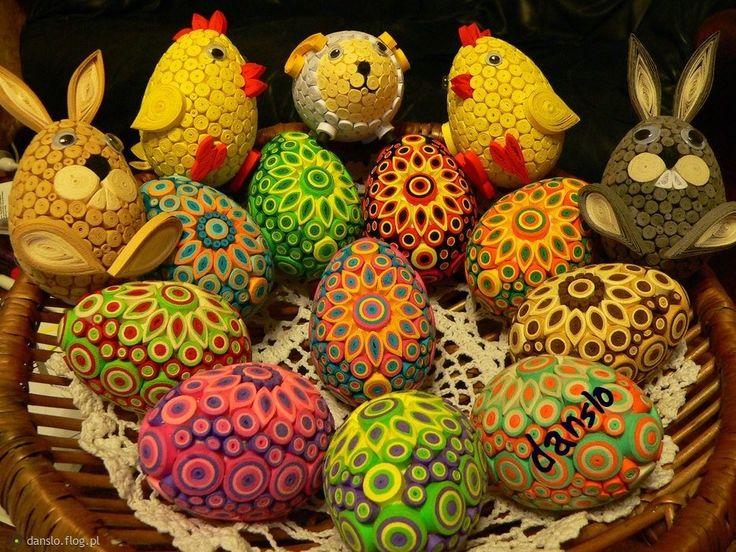PISANKI WYKONANE TECHNIKĄ QUILLING: Crafts Ideas, Easter Quilling, Quilling Eggs, Easter Eggs Quilling, Paper Quilling, Pisanki Wykonan, Pisanki Quilling, Techniką Quilling, Easter Ideas