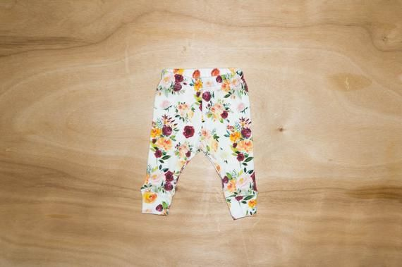 Cutest Fabric Ever Organic Autumn Fall Floral Fabric Made Into The Cutest Little Baby Leggings Dress Your Baby Leggings Burgundy Leggings Baby Girl Leggings