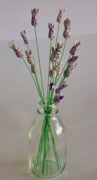 Ceramic lavender by Bron's Ceramics