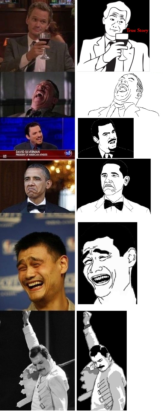 The origin of these rage faces Rage faces, Funny scenes