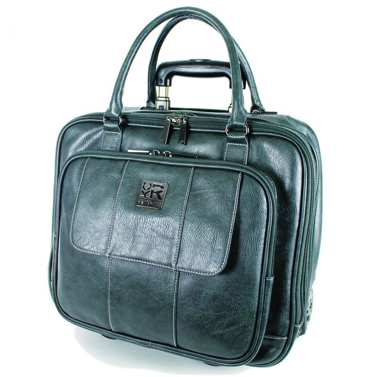 "Kenneth Cole Reaction Casual Fling ""It's Wheel-Y Late"" Rolling Laptop Case 