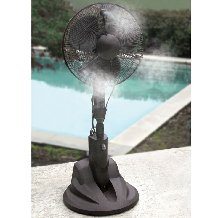 we need to place these throughout Briland-- like at Disney World... it gettin hot in here  The Evaporative Misting Fan - Hammacher Schlemmer