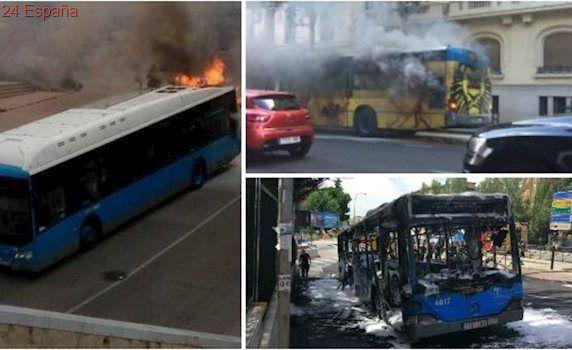 Problemas en la EMT: arden cinco autobuses en cuatro meses y no se renuevan 18 minibuses