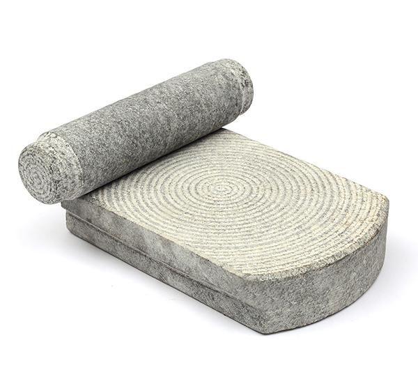 Sil Batta Tradtional Ammikal Stone hand Grinder Stone Flour Hand Mill