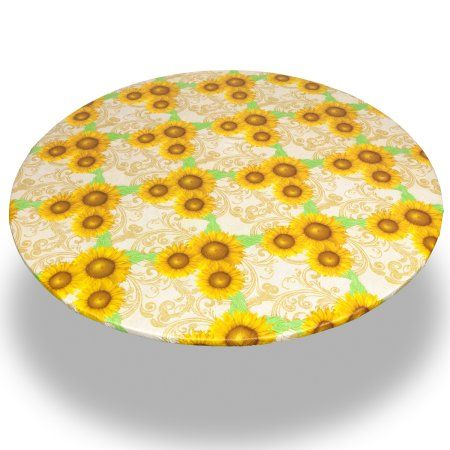 Home House Styles Vinyl Tablecloth Round Tablecloth