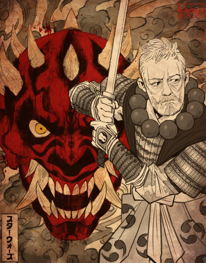 Darth maul works so well as an oni mask so i had to give it a go