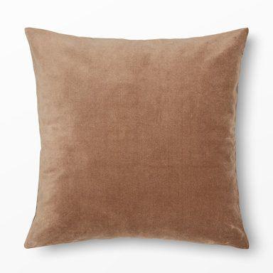 Kuddfodral Sammet, 50x50 cm, brun