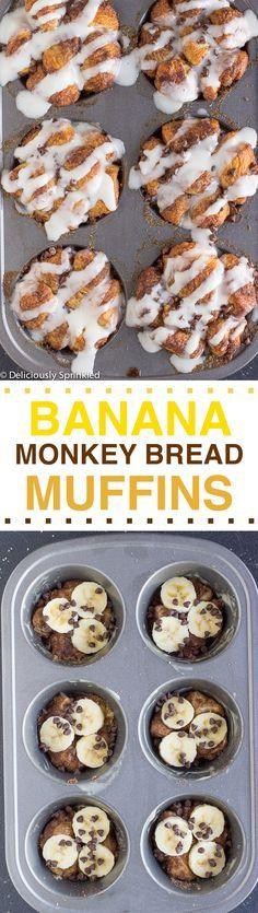 The BEST Banana Monkey Bread Muffins