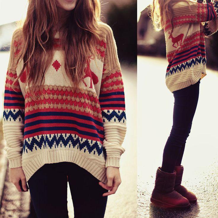"Item Type:sweater Material:blending Sleeve Length:long sleeve Collar:round neck Pattern:cartoon Color:khaki Size: XS (US size) Bust: 31-33"", Waist: 23-25"", Hips: 33-35"" S (US size) Bust: 33-35"", Waist"