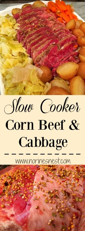 I've never been a big fan of Corn Beef and Cabbage..BUT this recipe has changed my mind! It's tender, flavorful and  so easy to make in your crock pot! A must for St. Patty's Day!