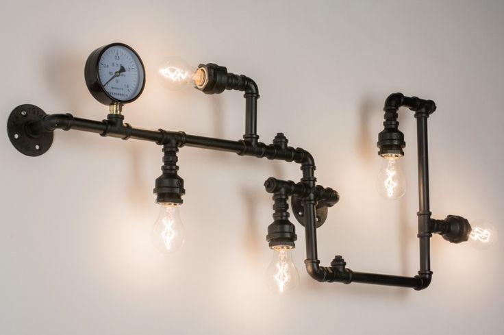 Klik op link voor webwinkel https://www.rietveldlicht.nl/artikel/wandlamp-72473-modern-industrie-look-stoer-raw-zwart-mat-oldmetal_(gunmetal) Wandlamp voorzien van de laatste trends ! Een industrieel karakter en valt op door het stoere, eigenzinnige ontwerp. Het minimalistische armatuur bestaat uit een leidingsstelsel welke is voorzien van vijf fittinglampen. De fittinglampen komen het beste tot zijn recht door gebruik te maken van heldere lichtbronnen, ook wel sierlampen genoemd.