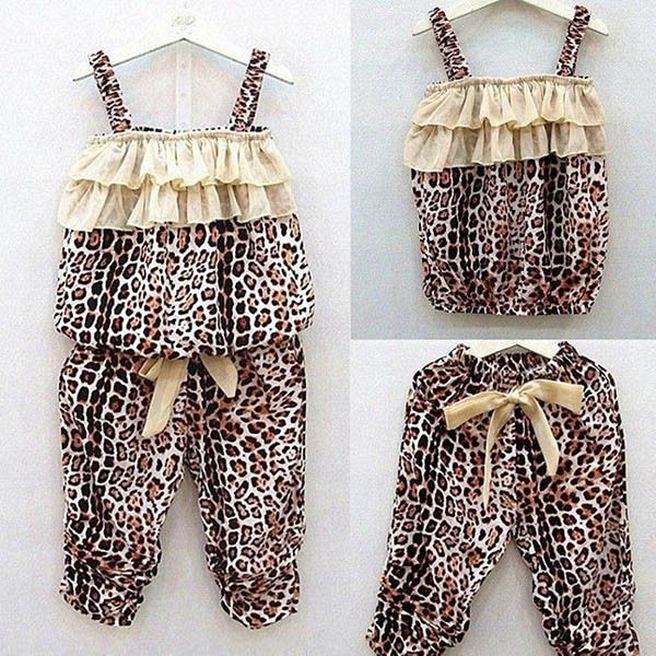 >> Click to Buy << Baby 2 Pcs Lovely Baby Girls Kids Elastic Band Leopard Vest + Pants Trousers Sets New #Affiliate