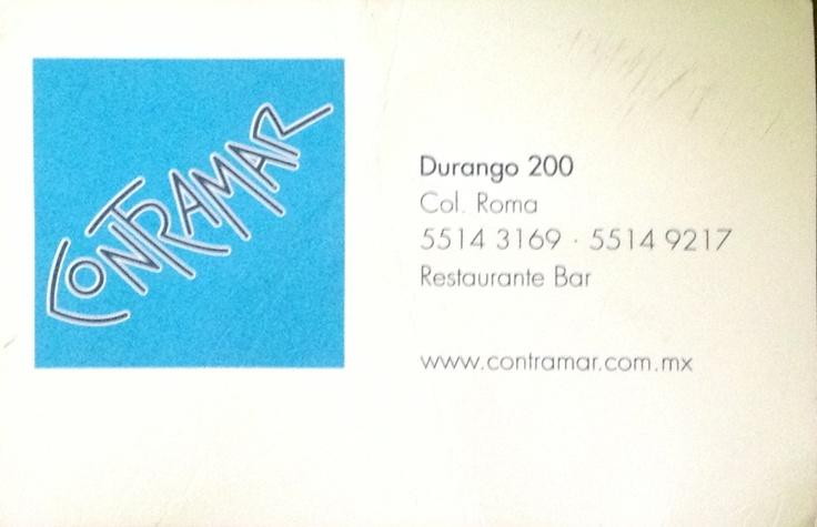 Contramar - Roma, DF México. 2012 Me encanta ese lugar.  Las tostadas de atún y el postre de fresas. Wow.