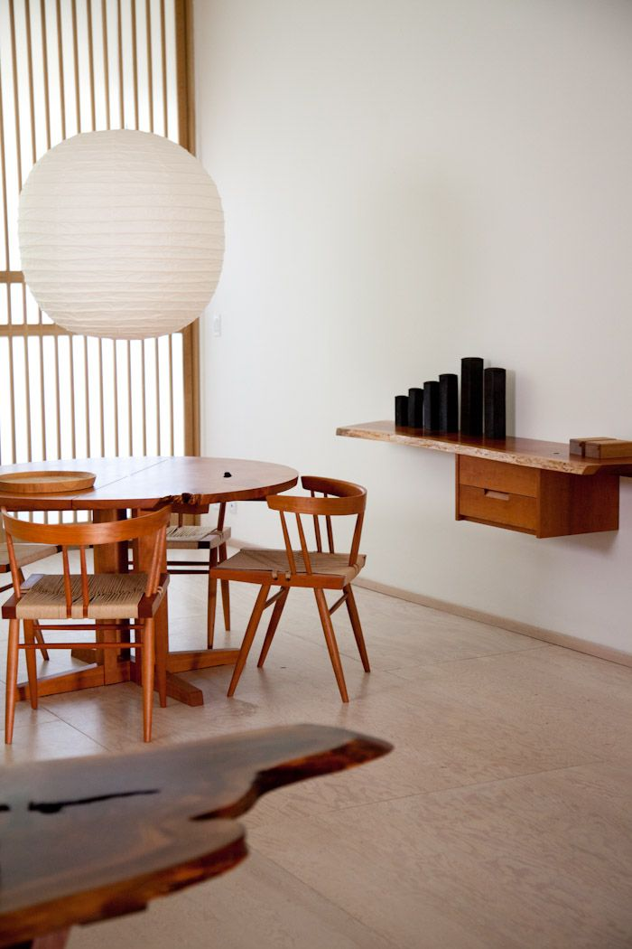 George Nakashima retrospective at Mjolk, Toronto.