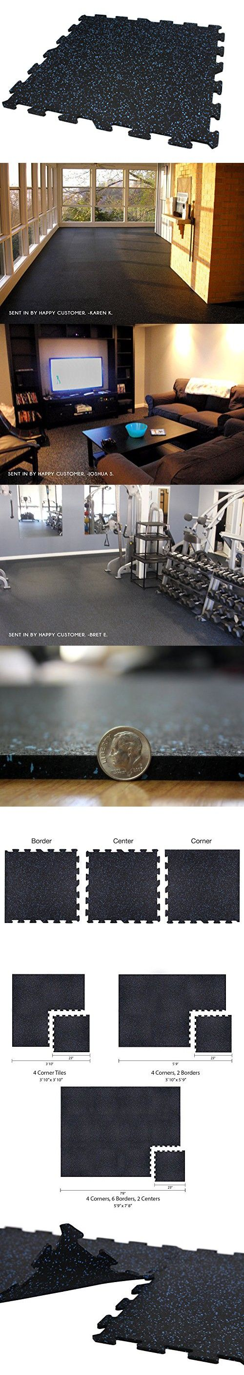 Best 25 gym flooring tiles ideas on pinterest home gym flooring incstores 8mm strong rubber tiles blue 3ft 10in x 5ft 9in interlocking rubber dailygadgetfo Choice Image