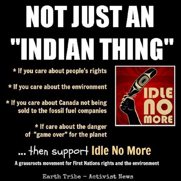 "Not Just an ""Indian Thing""  If you care about people's rights If you care about the environment If you care about Canada not being sold to the fossil fuel companies If you care about the danger of ""game over"" for the planet  then support Idle No More, a grassroots movement for First Nations rights and the environment  Earth Tribe - Activist News"