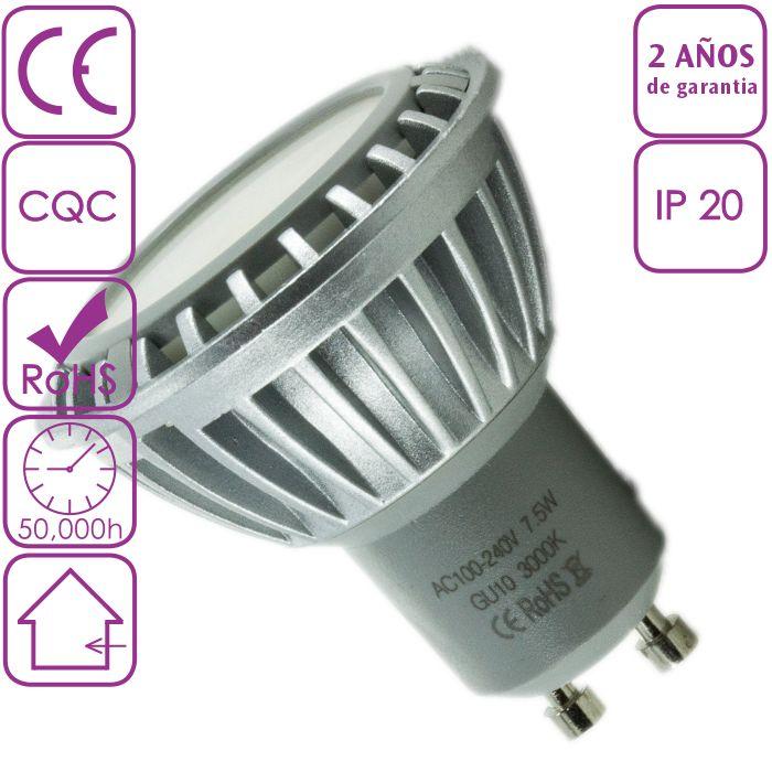 Bombilla LED Dicroica 7.5W GU10