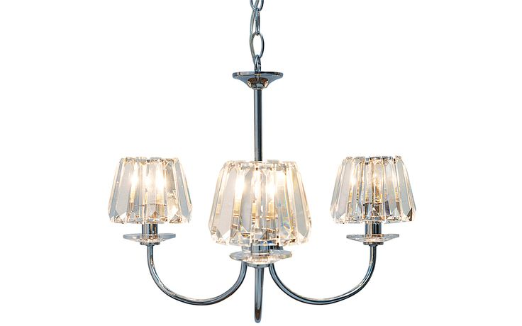 Capri 3 Light Chandelier with Glass Shades at Laura Ashley
