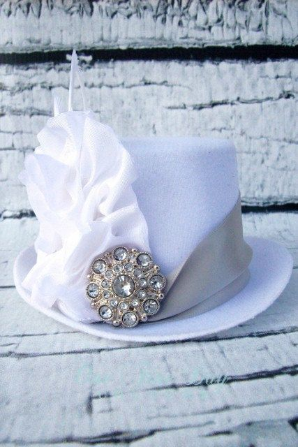 White Mini Top Hat only $29.95 darling on a newborn or bridal boudoir!