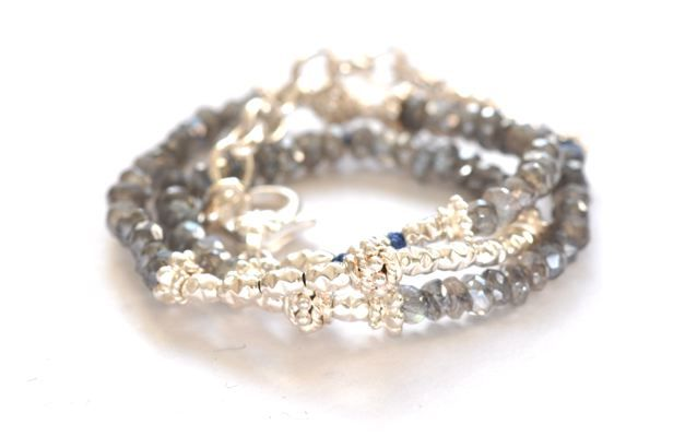Labradorite gemstone bracelet | Vivien Frank Designs