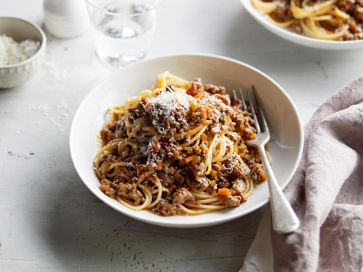 A classic bolognese sauce tastes great no matter how simple. Get that depth of flavour by cooking the sauce very gently until it's rich and fragrant. Serve with your favourite pasta and plenty of parmesan