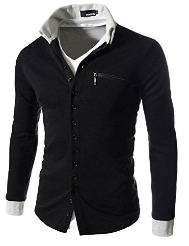 Showblanc (SBGD62) Homme Fitted Design Casual 2 Tone Point Simple Cardigan BLACK Large(Chest 38) Showblanc http://www.amazon.com/dp/B014R6XT6O/ref=cm_sw_r_pi_dp_Rxgmwb0P4H0FP