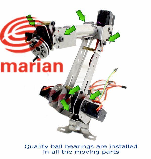 Oficial smarian Featrues: Nombre 6 DOF robot Arm Todo metal brazo mecánico de Las articulaciones en la parte inferior están hechas de metal gear servo en Piezas y Accesorios de Juguetes y Pasatiempos en AliExpress.com | Alibaba Group