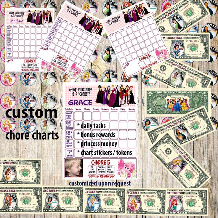 Kids Chore Chart, Princess Planner Chart,Kids Reward Chart,Responsibility Chart,Positive Behavior Chart,Star Chart,Kids Planner,Weekly Chart by DigitalArtMovement on Etsy