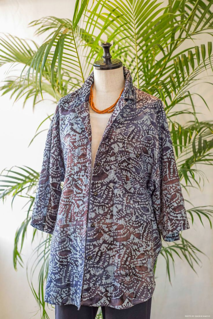 GRAPE Motomachi / Batik Print Blouse #batik #blouse #grapemotomachi