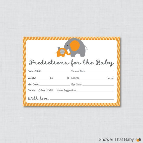 Hey, I found this really awesome Etsy listing at https://www.etsy.com/listing/218690101/elephant-baby-shower-prediction-cards