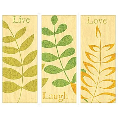 Live, Laugh, Love Set of 3 Wall Art - jcpenney: Wall Art, Squares, Jcpenney, For The Homes, Living Laughing Love, Decoration Idea, Sets, Homes Decoration, Peacocks Feathers