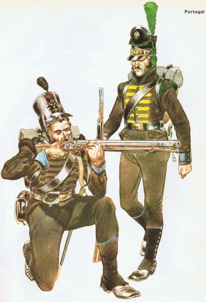 Portuguese Sharpshooters, 1st and 4th Caçadores Regiment