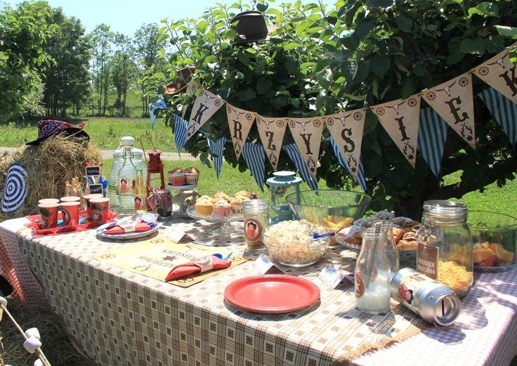 Baner personalizowany na urodziny w westernowskim stylu