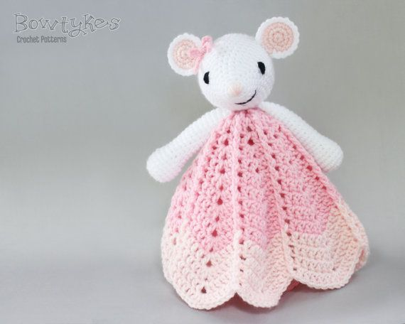 Wee Mouse Lovey CROCHET PATTERN instant download by Bowtykes