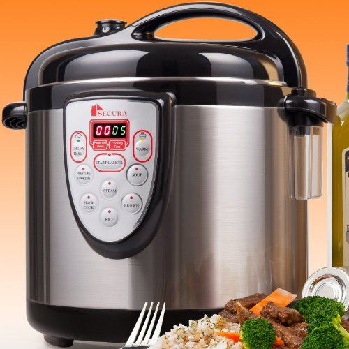 Secura 6-in-1 Electric Pressure Cooker 6qt, 18/10 Stainless Steel Cooking Pot, Pressure Cooker, Slow Cooker, Steamer, Rice Cooker, Browning/Sauté, Soup Maker Secura http://www.amazon.com/dp/B008A852ZW/ref=cm_sw_r_pi_dp_ZhVrub01X8RF4